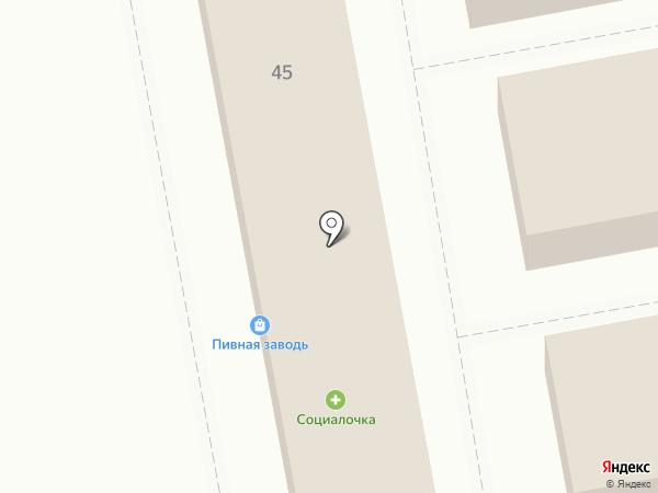 Кнопка на карте Северного
