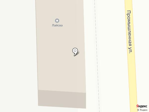 Лайсва на карте Белгорода
