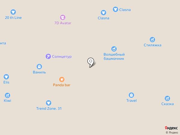 Ваниль на карте Белгорода