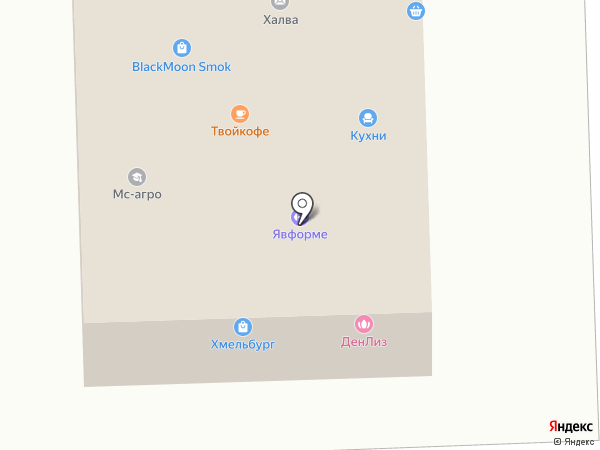 Хмельбург на карте Дубового