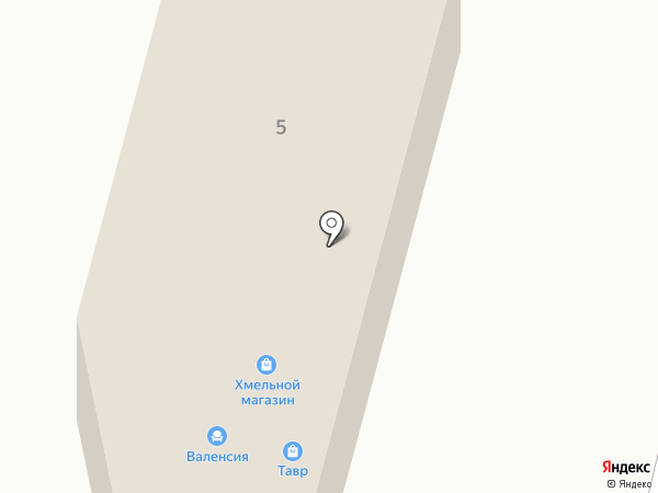 Валенсия на карте Таврово