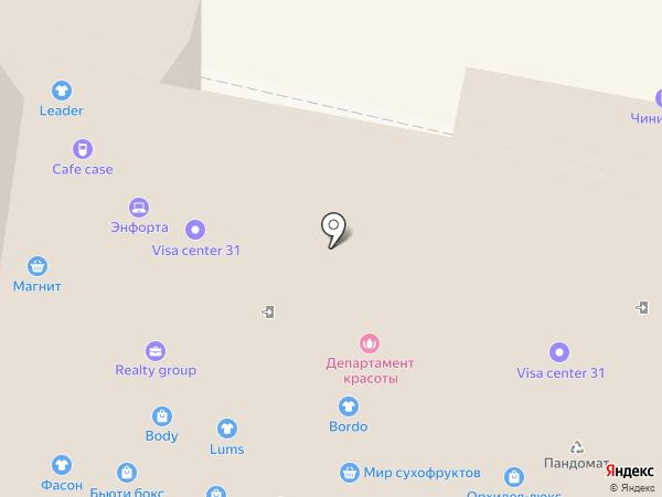 Бургжуй на карте Белгорода