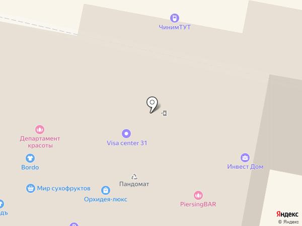 Киоск фастфудной продукции на карте Белгорода