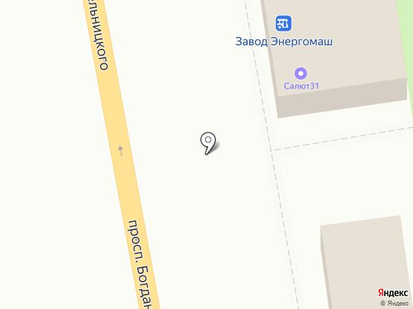 Росток на карте Белгорода