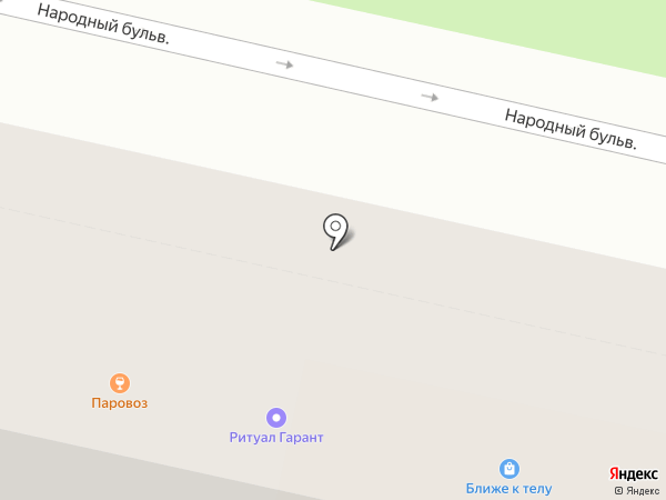 Магазин швейных товаров на карте Белгорода
