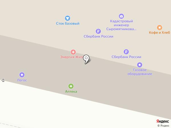 Абрис на карте Белгорода