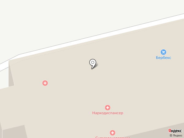Областной наркологический диспансер на карте Белгорода