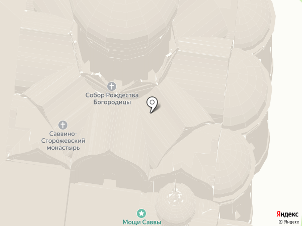 Саввино-Сторожевский монастырь на карте Звенигорода