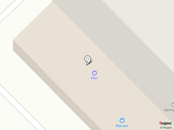 Магнит на карте Звенигорода