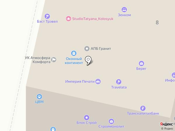 Берег на карте Звенигорода