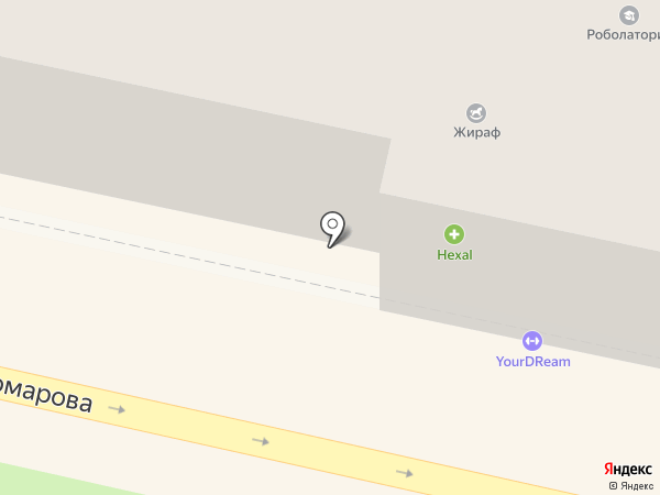 Золотая волна на карте Звенигорода