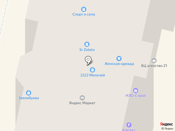 Элизиум на карте Звенигорода