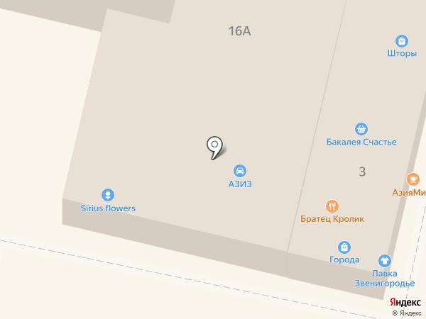 Куриный дом на карте Звенигорода
