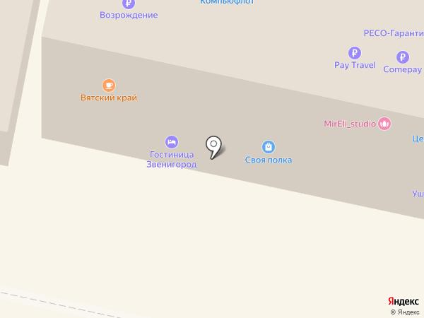 ПЕРЕСВЕТ на карте Звенигорода