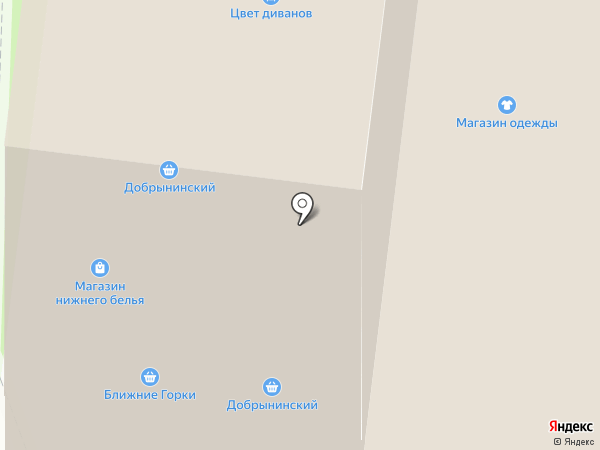 Магазин колготок и нижнего белья на карте Истры