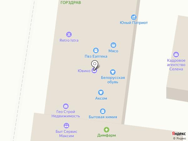 Ювико на карте Истры