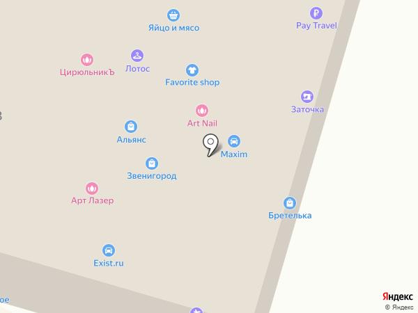 Деловой Звенигород на карте Звенигорода