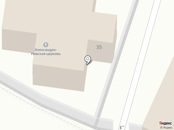 Храм Александра Невского в Звенигороде на карте Звенигорода