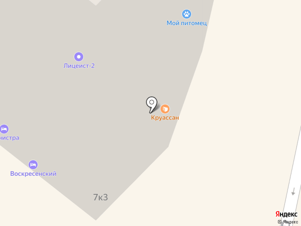 Авто-подкова на карте Истры