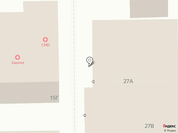 Пальмира на карте Краснознаменска
