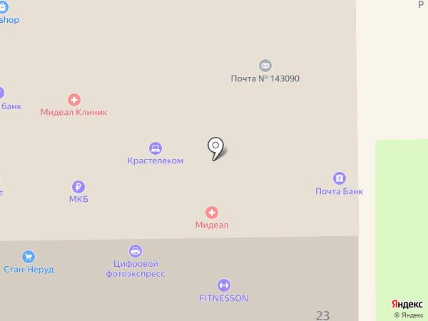 Почта Банк, ПАО на карте Краснознаменска