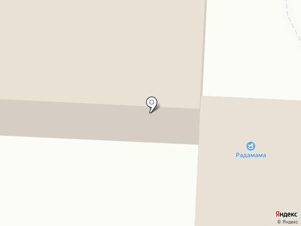 Радамама на карте Краснознаменска