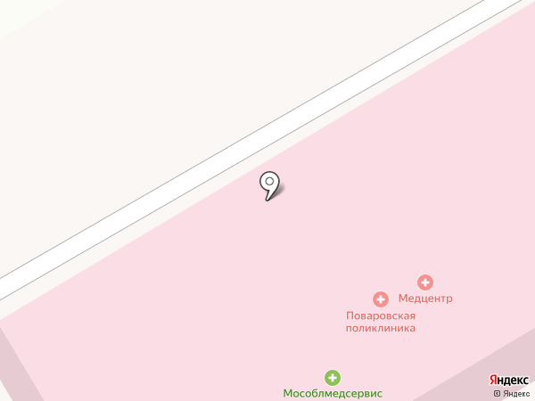 Поваровская поликлиника на карте Поварово