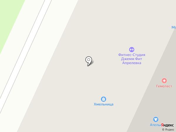 Нарэк на карте Апрелевки
