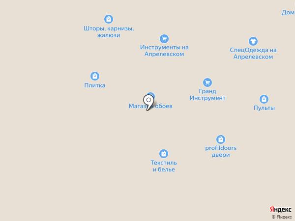 Магазин пиломатериалов на карте Апрелевки
