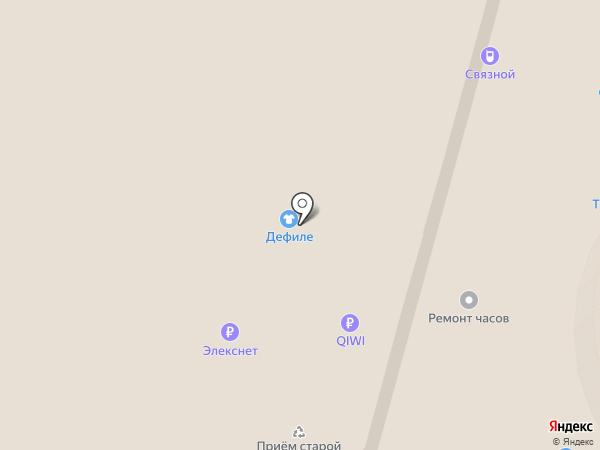Дефиле на карте Москвы