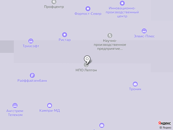 RUPOSM на карте Зеленоградского