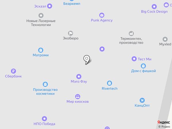 Пеликан на карте Москвы