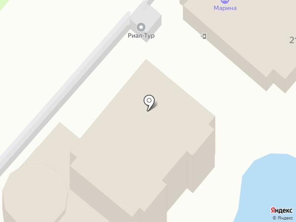 Марина на карте Анапы