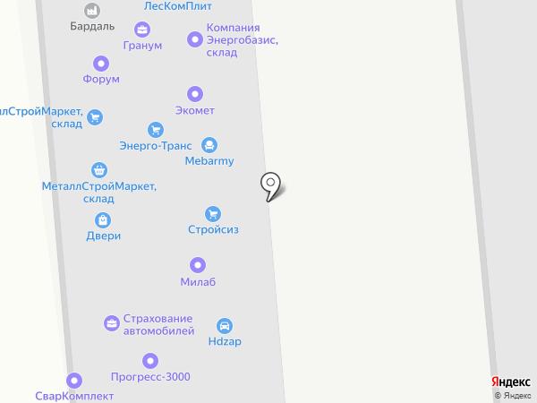 Метизснаб на карте Одинцово