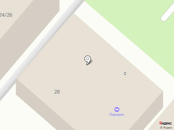 Парадиз на карте Анапы