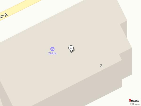 Зиридис на карте Анапы