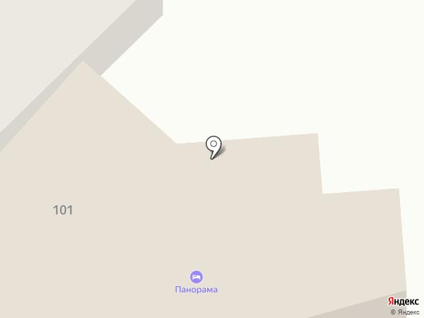 Панорама отель на карте Анапы