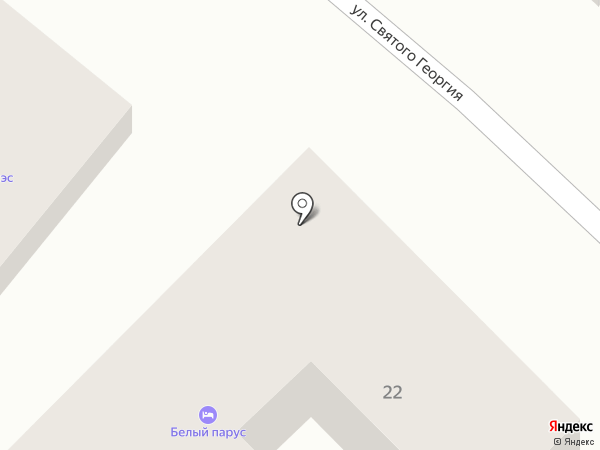 Белый парус на карте Анапы