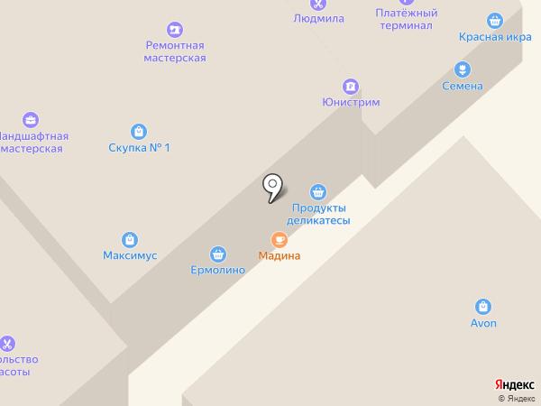 Продовольственный магазин на карте Одинцово