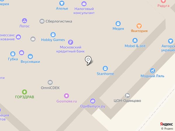 Уточка на карте Одинцово