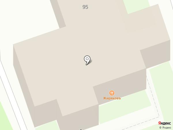 Жиряковъ на карте Красногорска