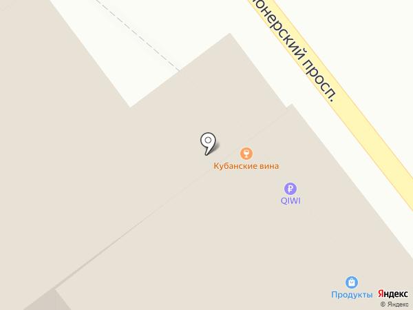 Эврика на карте Анапы