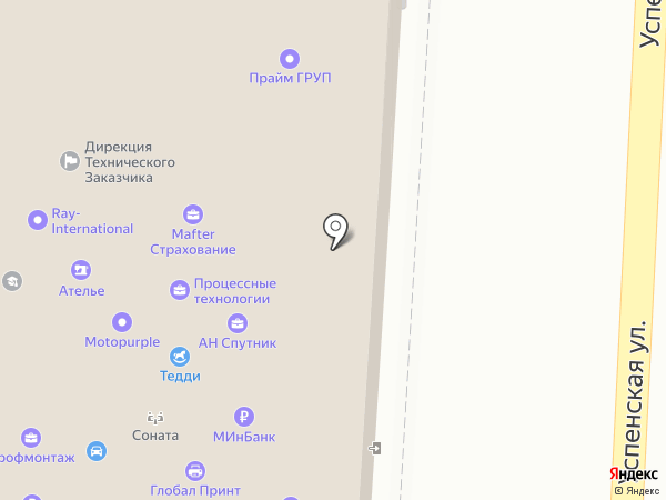 Платежный терминал, МИнБанк, ПАО на карте Красногорска