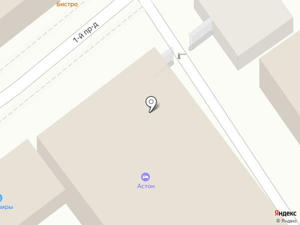 Астон на карте Анапы
