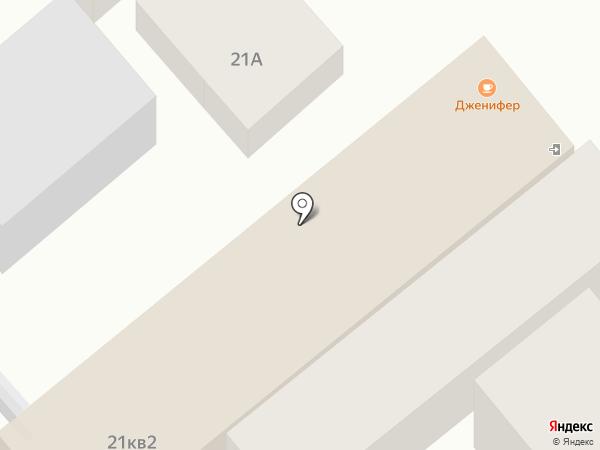 Дженифер на карте Анапы