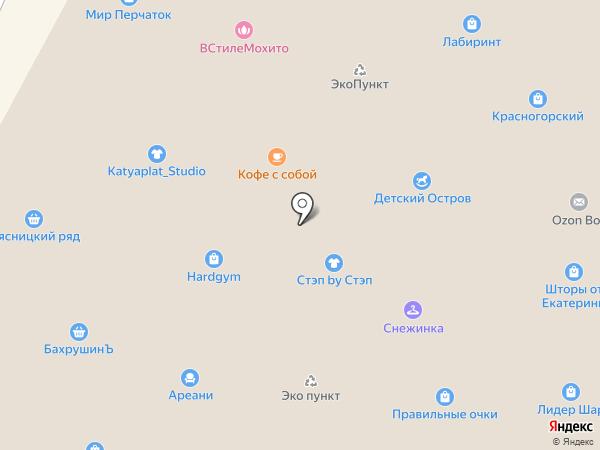 Хлебный дворик на карте Красногорска