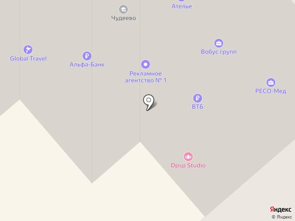 Альфа-Банк на карте Красногорска