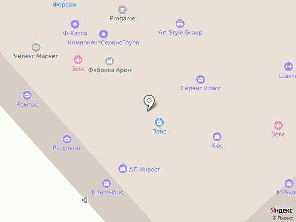 Результат на карте Красногорска