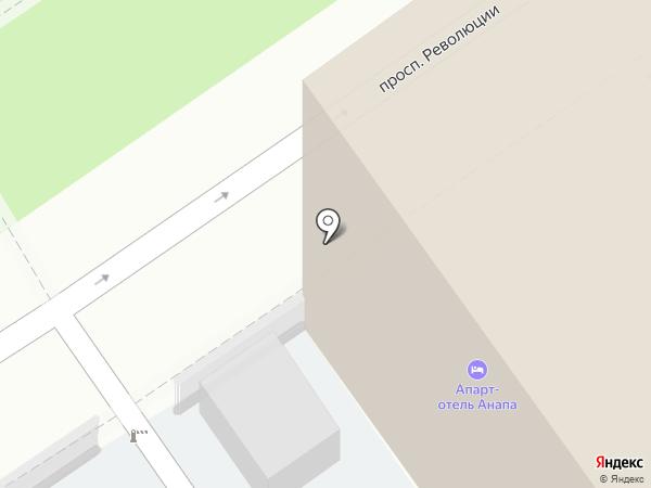 Автостоянка на карте Анапы