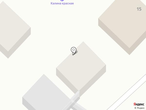 Калина красная на карте Анапы